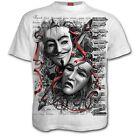Spiral Direct Rebellion Anarchy Or Apathy V For Vendetta Unisex White Tshirt
