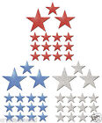45 USA Colour Fabric Glitter Stars Iron on hotfix fabric t-shirt transfer patch