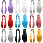 Straight Multicolor Synthetic Women Hair Costume Party Cosplay Full Wigs B20E