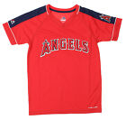 Majestic MLB Youth Los Angeles Angels Lead Hitter Performance Shirt, Red