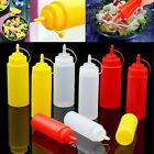 8/12/16/24oz Squeeze Bottle Condiment Dispenser Ketchup Mustard Sauce Seasoning