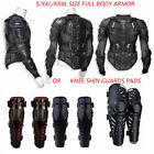 Motorcycle Full Body Armor Shirt Jacket Protector Gear w/ Knee Shin Guards ATV