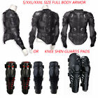 US Motorcycle Full Body Armor Shirt Jacket Protector Gear Knee Shin Guards ATV