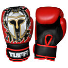 Tuff Muay Thai Boxing Gloves MMA Gladiator Red Kick Boxing Leather