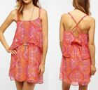 Urban Outfitters Multicolor Ecote Double Layer Chiffon Festival Dress sz S or L