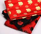 "28"" APPLE FAN MUST! SILK DAMASK SATIN BROCADE FABRIC PIECE: CHINESE APPLE COOL!"