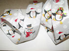 Wintry Snowman & Penguins Snowflake Christmas 63mm - Luxury Wire Edged Ribbon