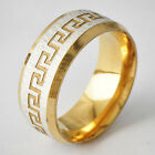 Tibet style White Gold Plated Silver Men's Band Promise Fine Band Ring Size 8-11