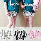 Summer Toddler Kid Baby Shorts Girls Boys Striped Cotton Casual Bottom Pants TY