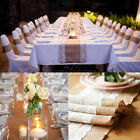 High Quality Natural hessian Burlap & Lace Table Runner Wedding Tea-party Decor