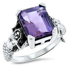 MERMAID-RING-GENUINE-BRAZILIAN-AMETHYST-925-STERLING-SILVER-RING-826