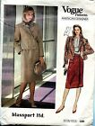 Misses Size 12 Jacket Front Wrap Skirt Vintage Sewing Pattern Vogue 1281