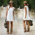 Sexy Women Casual Summer Cocktail Party Sleeveless Lace Short Mini Dress B20E