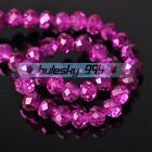 100pcs 6mm Rondelle Faceted Crystal Glass Charms Loose Spacer Beads Findings