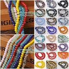 100pcs 166 Colors 6mm Rondelle Faceted Crystal Glass Loose Spacer Beads Lot
