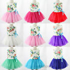 Flower Girls Kids Baby Gown Dress Princess Party Wedding Lace Tulle Tutu Dresses