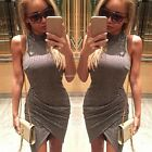 Women Bodycon Sleeveless Casual Slim Party Cocktail Evening Pencil Mini Dress