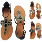Vince Camuto Manelle Women's Gladiator Thong Sandals Jeweled Size 6.5