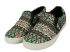LADIES FLAT SLIP ON PLIMSOLLS SNEAKERS TRAINERS SKATER SHOES PUMPS SIZE UK 5, 8.
