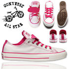 Ladies Converse Dual Tongue Pink Trainers Women Casual Shoes Size UK 3 4 5 6 7 8