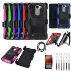 Phone Case For Straight Talk LG Treasure 4g LTE Holster Cover USB Film Stylus