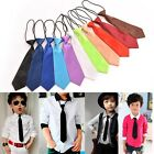 1 X Satin Elastic Neck Tie for Wedding Prom Boys Children School Kids Ties