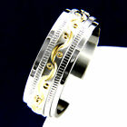 Silver Yellow Gold Tone Stainless Steel Engagement Wedding Mans Bridal Band Ring