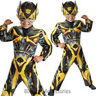 CK683 Bumble Bee Transformers Muscle Toddler Super Hero Fancy Boys Child Costume