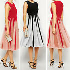Fashion Lady Summer Beach Sleeveless Chiffon Dress Evening Party Club Sundress