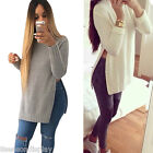 FL 1PC  Fashion Women Autumn Winter Warm Long sleeve Jag Knitting Blouse Shirt