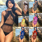 One Piece Swimsuit Womens Transparent Bathing Monokini Suits Beachwear Bikini