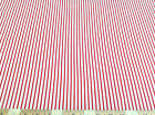 Discount Fabric Quilting Cotton Cherry Red and White Stripe ( 10 yard Lot) 009CT