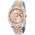 Rolex Datejust 36 Datejust Pink Dial Steel and 18K Everose Gold Jubilee Mens