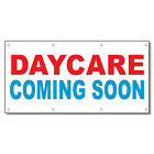 Daycare Coming Soon Red Blue 13 Oz Vinyl Banner Sign With Grommets