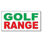 Golf Range Green Red 13 Oz Vinyl Banner Sign With Grommets