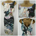 NEW COAST SHIFT DRESS PENCIL BLACK LILAC TEAL FLORAL LAYERED OCCASION 6 - 18