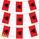 ALBANIA EURO FOOTBALL 2016 COUNTRY BUNTING 33FT LARGE FLAG DECORATION 20 FLAGS