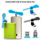 2 in 1 USB MICRO Portable Mini Fan Cooling Mobile Power For Android Smart Phones