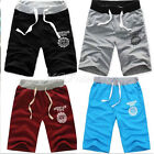 Mens Cotton Shorts Pants Gym Trousers Sport Jogging Trousers Casual Beach Shorts
