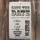 Personalised White Classical Romance Wedding Save the Date Tags with Envelopes