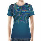 Electronics Women Best Deals - Neon Electronics Women Sport Mesh T-Shirt XS-3XL All-Over-Print