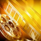 MOVIE REEL GOLD COLOR HOME THEATER DECOR U PICK SET SIZE fABRIC TOP RUBBER BACK