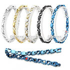 4 in 1 Steel Love Heart Magnetic Energy Germanium Womens Therapy Health Bracelet