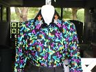 Plus Size Black W/Stars Western Rail, Pleasure, Rodeo, Trail, Glamour Shirt