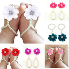 Baby Girls Barefoot Pearl Flower Foot Band Toe Rings Sandals Socks Ankle Chain