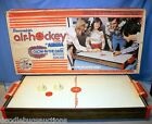 3ft Vintage 1976 Aurora BRUNSWICK AIR HOCKEY Wooden Table-Top Game w/Box WORKS