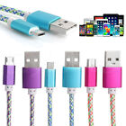 Braided Data Charging Cable Micro 2A USB Universal Fast Charger for Android