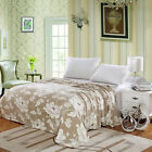 Madison Micro Plush Floral Blanket Beige Twin, Full, Queen, & King