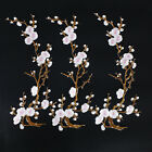 Fashion Embroidered Plum Blossom Flower Patch Sew on Clothes Applique Craft
