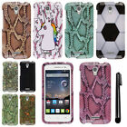 For Alcatel OneTouch POP Astro 5042N 5042T PATTERN HARD Case Phone Cover + Pen